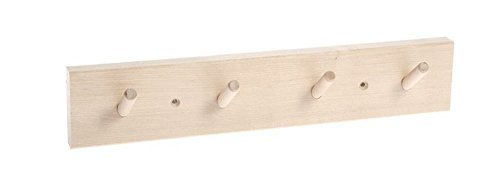 Iris Hantverk Birch Wood Wall Rack with 4 Hooks