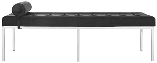Safavieh FOX6240B Home Collection Xavier Tufted Bench, Black by Safavieh (Image #3)
