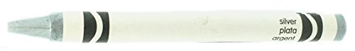 50 Silver Crayons Bulk - Single Color Crayon Refill - Regular Size 5/16