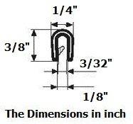 Edge Trim Black Small Height 9.5mm x Grip range 3mm 1 METER