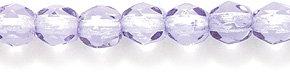 Light Purple Glass Beads (Preciosa Czech Fire 4 mm Polished Glass Bead, Faceted Round, Transparent Light Amethyst Coat, 200-Pack)