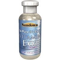 Sundown Naturals Pur Huile de vitamine E, 70000 UI 2.5 fl oz