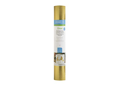 "Cricut Premium Vinyl - Permanent, 12"" x 48"" Adhesive Decal Roll - Gold"
