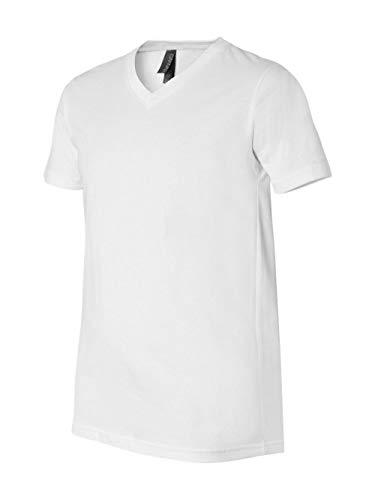 (Canvas for Men's Delancey V-Neck T-Shirt, WHITE, X-Large)