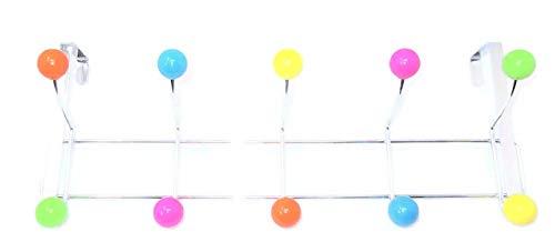 DWD 10 Hook Over Door Hanger, Multi-Coloured