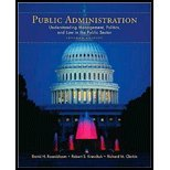 Public Administration Understanding Management, Politics, and Law in the Public Sector by Rosenbloom, David, Kravchuk, Robert, Clerkin, Richard [McGraw-Hill Humanities/Social Sciences/Languages,2008] [Paperback] 7TH EDITION