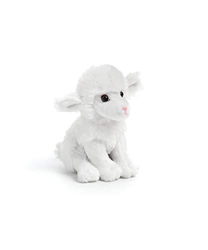 DEMDACO White Fleece Lamb Sheep Children's Plush Beanbag Stuffed Animal -