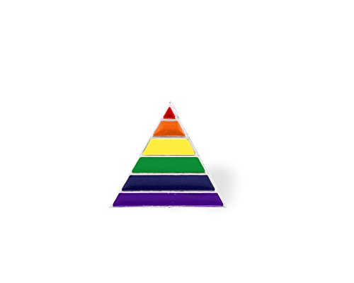 25 Pack Gay Pride Rainbow Triangle Pins - Support LGBTQ Causes (25 Pins in Bulk) ()