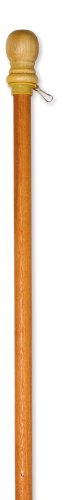 - Evergreen Flag Wooden House and Estate Flag Pole with Ring - 56