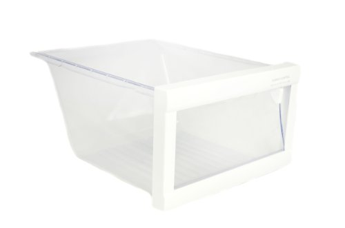 LG Electronics 3391JJ1038B Refrigerator Vegetable Crisper Drawer, Clear with White Trim