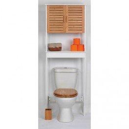 meuble bali dessus wc en bois avec 1 porte bambou