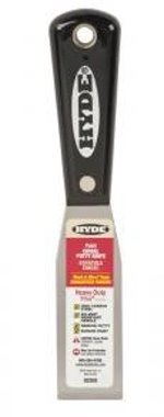 Hyde Black & Silver Professional Putty Knife Stiff Carbon Steel 1-5/16 ''