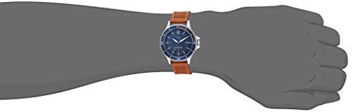 Timex Men's TW4B15000 Expedition Ranger Solar Tan/Blue/Orange Accent Leather Strap Watch