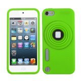Asmyna Green Camera Style Stand Pastel Skin Cover with Lanyard for iPod touch 5