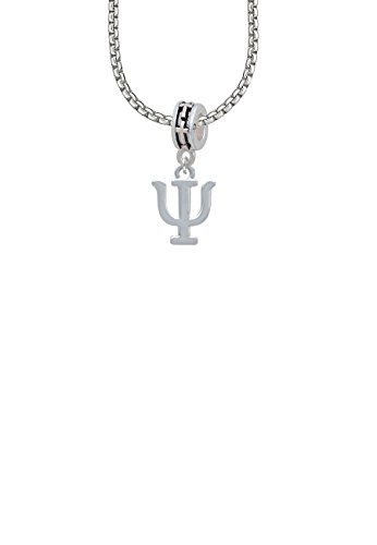 Large Greek Letter - Psi - Cross Bead Necklace