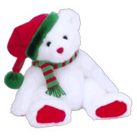 (Ty Classic Garland the Holiday Bear- Retired)