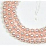 100 Swarovski Crystal Pearls 4mm Round Beads (5810). 16 Inch Loose Strand (Rose)