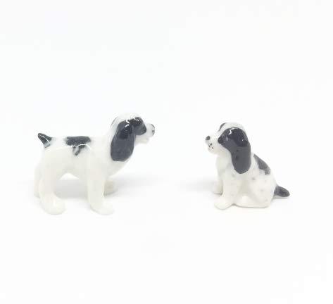 Studio one Handmade Animal Figurine Puppy Dog Porcelain Ceramic Pet Animal Figurine Collection Set 2 ()