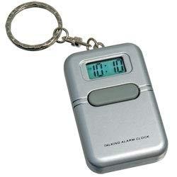 LS&S Silver Talking Clock Keychain