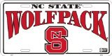 - HangTime NC State Wolfpack embossed metal auto tag