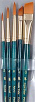 Princeton Brush 9139 Real Value Short Handle Set44; Synthetic Golden Taklon - Set Of 5 from Princeton Artist Brush Co