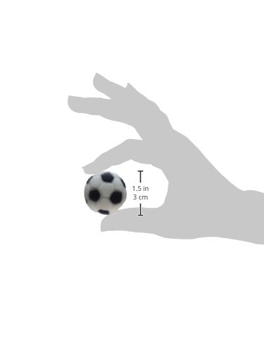 Lucks Dec-Ons Decorations Molded Sugar/Cup-Cake Topper, Soccer Ball, 1 Inch, 231 Count