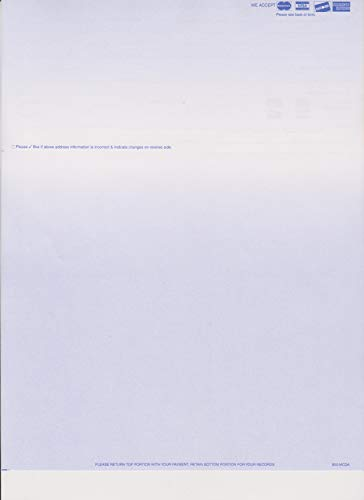 2500 COLORED BLANK PERFORATED STATEMENT PAPER WITH MAJOR CREDIT CARD LOGOS (BLUE) by MyLaserChecks (Image #2)