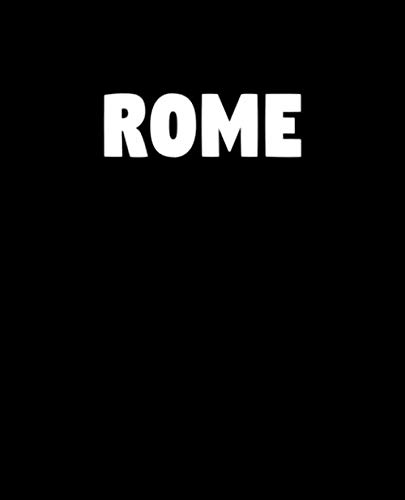 Rome: A Home Design decorative book for coffee tables, shelves, end tables, and interior design styling - Housewarming Gift Decorum - stack decor ... any room in home (Fashion City Black Cover)