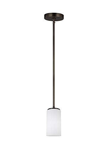 Sea Gull 6124601-778 Alturas Pendant, 1-Light 100 Watts, Brushed Oil Rubbed Bronze