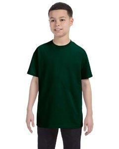Gildan boys Heavy Cotton T-Shirt(G500B)-FOREST GREEN-S ()