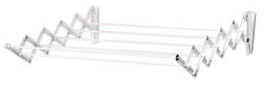 Polder Wall-Mount 24-Inch Accordion Clothes Dryer, White