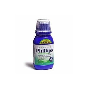 Milk Of Mag Mint Size 12z Phillips Milk Of Magnesia Laxative & Antacid In Mint Flavor