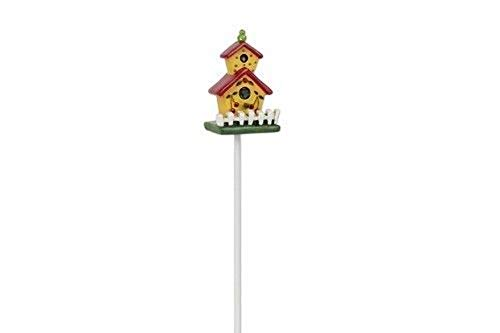 Mary Engelbreit Fairy Gardens - Yellow Cherry Birdhouse - Dollhouse Miniature (Fence Wings Picket)