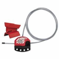 Master Lock 470-S3921 Butterfly Valve Lockouts, With 3 ft. Cable, Red by MASTER LOCK