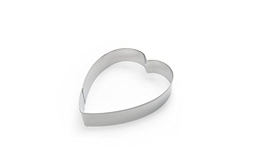 Fox Run 3367 Heart Cookie Cutter, 5-Inch, Stainless Steel (Cookie Cutter Heart 5)