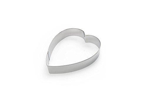 Fox Run 3367 Heart Cookie Cutter, 5-Inch, Stainless Steel (Heart 5 Cutter Cookie)