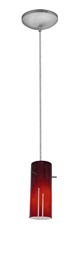 Brushed Stainless Steel Cylinder Pendant Light Shade in Florida - 1