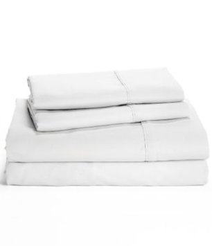 Price comparison product image Set of 2 Ralph Lauren Dunham Sateen King Size Pillowcases White -300 Thread Count 100% Cotton-