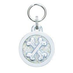 Cross Bones Engraveable Pet Tag - Large ()