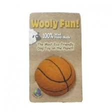 One Pet Planet – Wooly Fun Basketball – 100% Wool – Hand-Made – Eco Friendly – Dog  Puppy Toy!