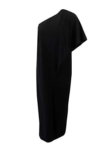- Adrianna Papell Women's Petite Flutter One Shoulder Jumpsuit, black, 12P