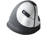 R-Go Tools HE Mouse Vertical Mouse Right Wireless, RGOHEWL (Wireless 4 buttons, scroll wheel) by R-Go