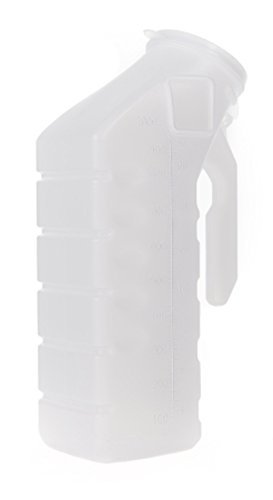 Pack of 12 McKesson Plastic Translucent Male Urinal 32 oz. / 1000 mL volume