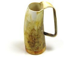 (Abbeyhorn-Polished Ox Horn Tankard