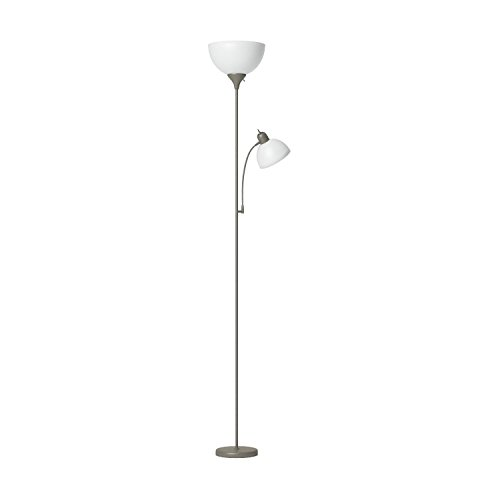 Simple Designs Home LF2000-SLV Floor Lamp with Reading Light, Silver by Simple Designs Home (Image #8)