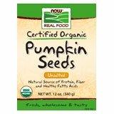 NOW Foods Organic Pumpkin Seeds-12 oz- 2 PACK