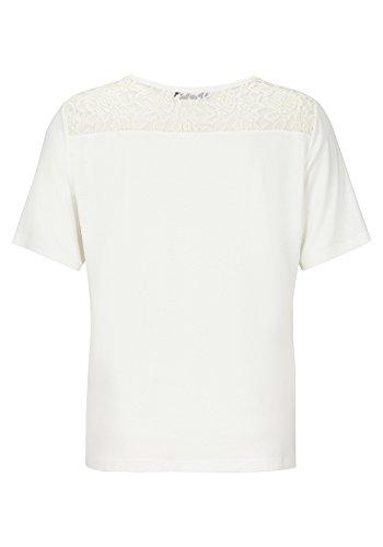 T-Shirt mit Motiv-Print und Spitze