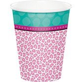Club Pack of 96 Sparkle Spa Party! Disposable Paper Hot and Cold Party Beverage Cups 9 oz.
