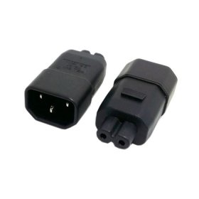 HDMIHOME Standard Molded IEC 320 C14 Socket to IEC C7 Plug AC Power Adapter Set UL Approved ()