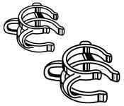 Kimble Chase CLAMP N-P STEEL SZ 24 PK/6 Nickel-Plated Standard Taper Joint Clamp - KMBL by Kimble